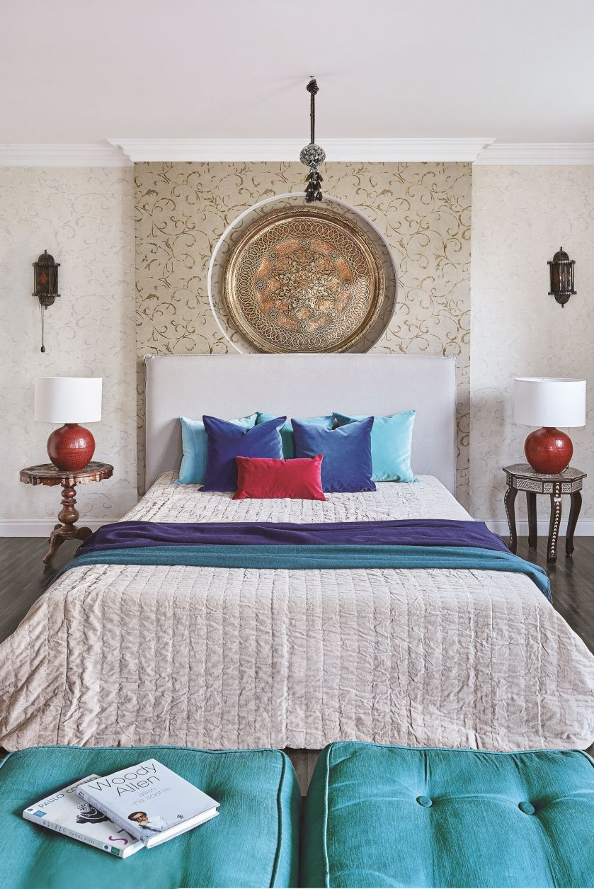 styl eklektyczny odety moro sypialnia