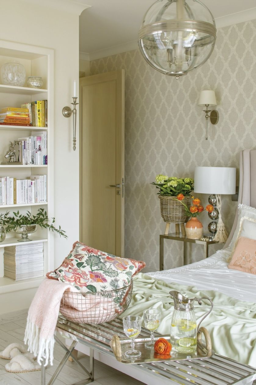 kobieca sypialnia modern classic