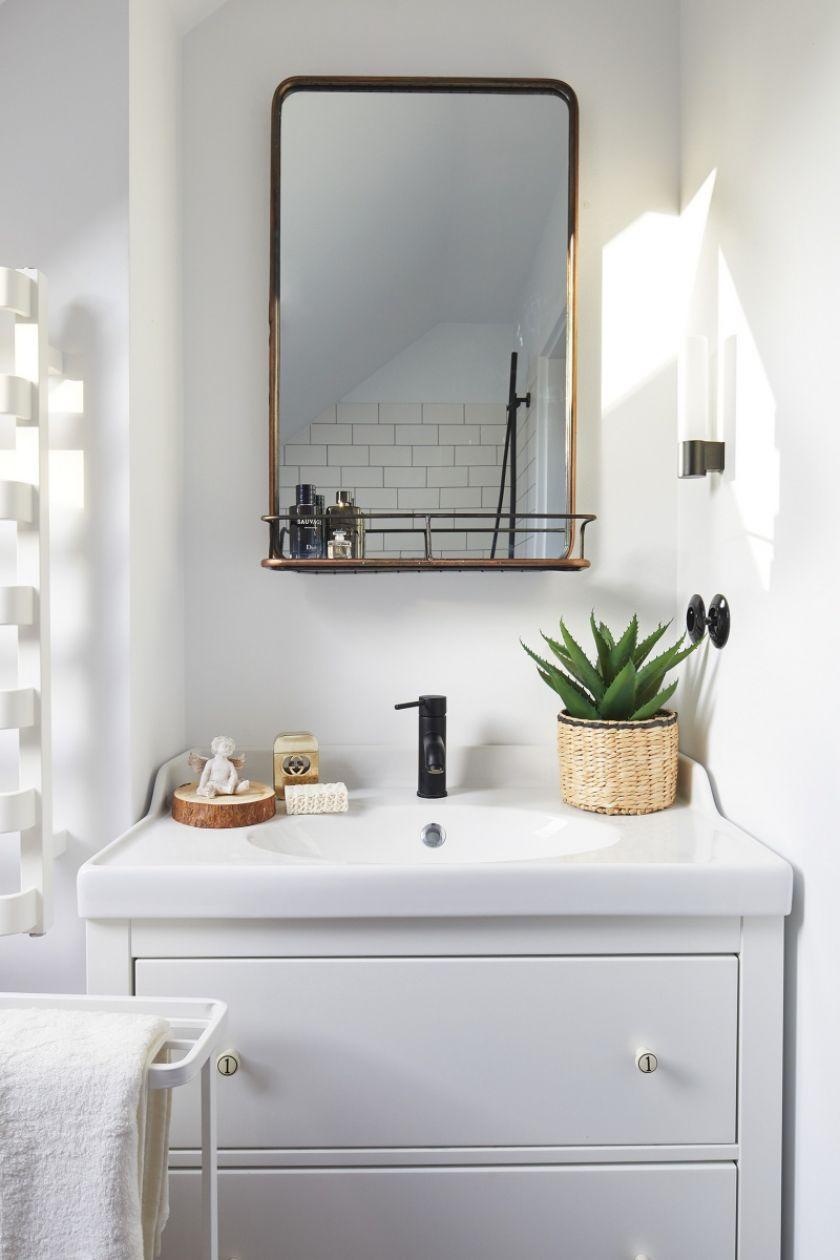 mała biała łazienka aranżacje