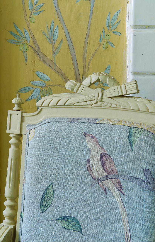 styl eklektyczny tapicerki i tapety