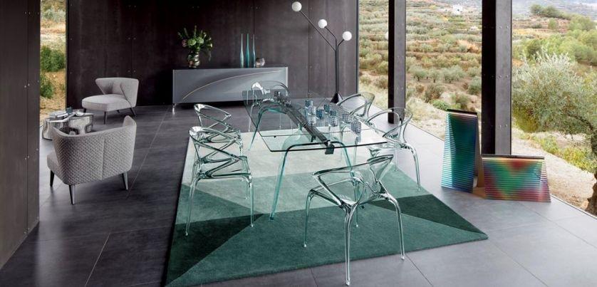 szklany stół do jadalni