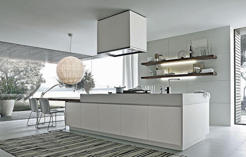 nowoczesna kuchnia białe wnętrze