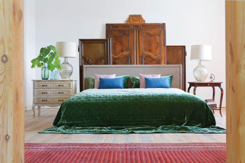 styl pałacowy w sypialni