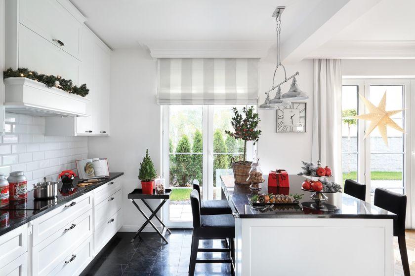 biało czarna kuchnia w stylu nowojorskim