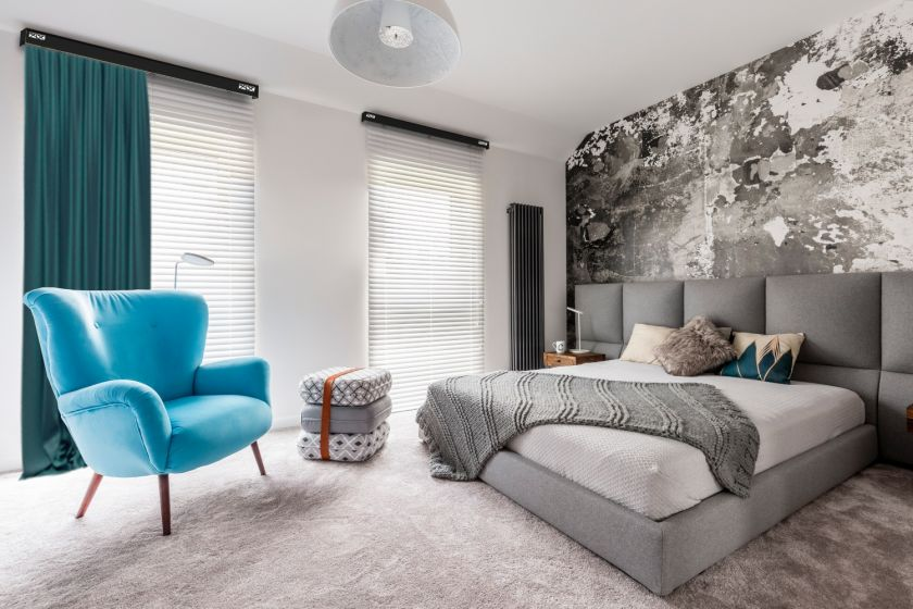 aranżacja okna zasłony w sypialni