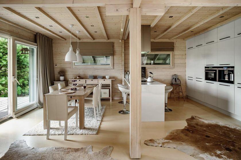 aranżacja wnętrza kuchnia drewno