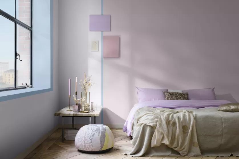 modny kolor ścian do sypialni 2022