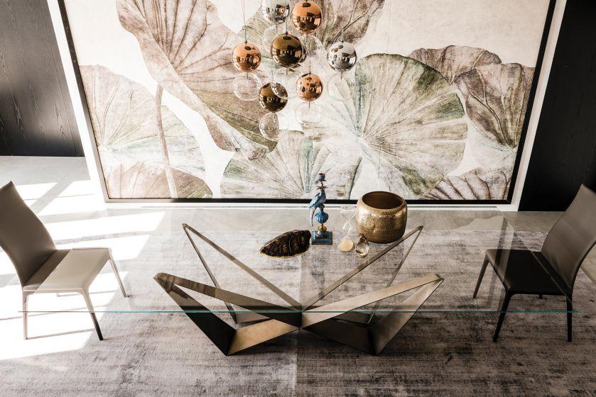 szklany stół do salonu