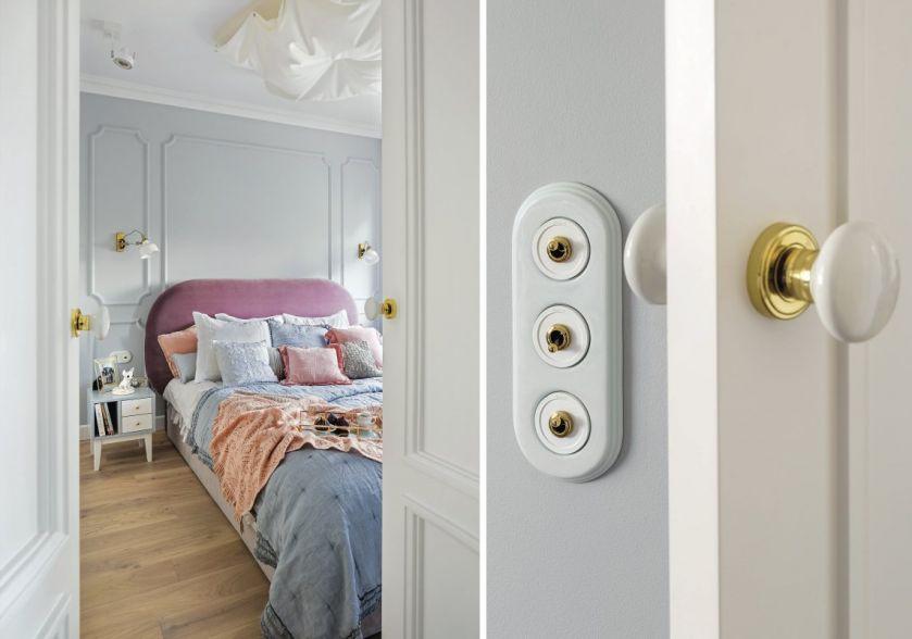 piękna pastelowa sypialnia