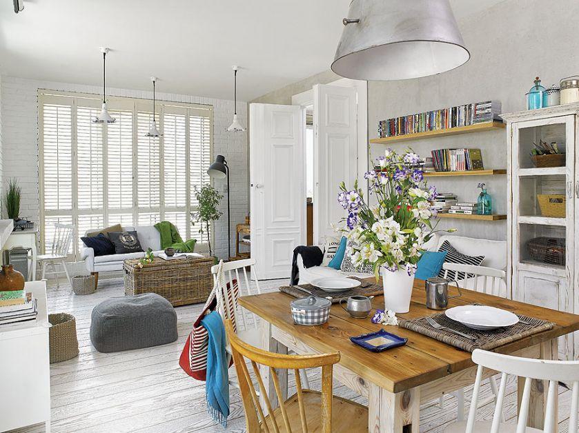 Kuchnia połączona jest z jadalnią i salonem.