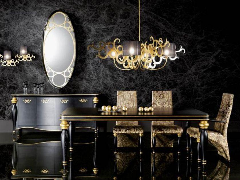 Za stół Venus zapłacimy 12 800 zł. Krzesło kosztuje 2400 zł,a żyrandol - 14 400 zł. HEBAN