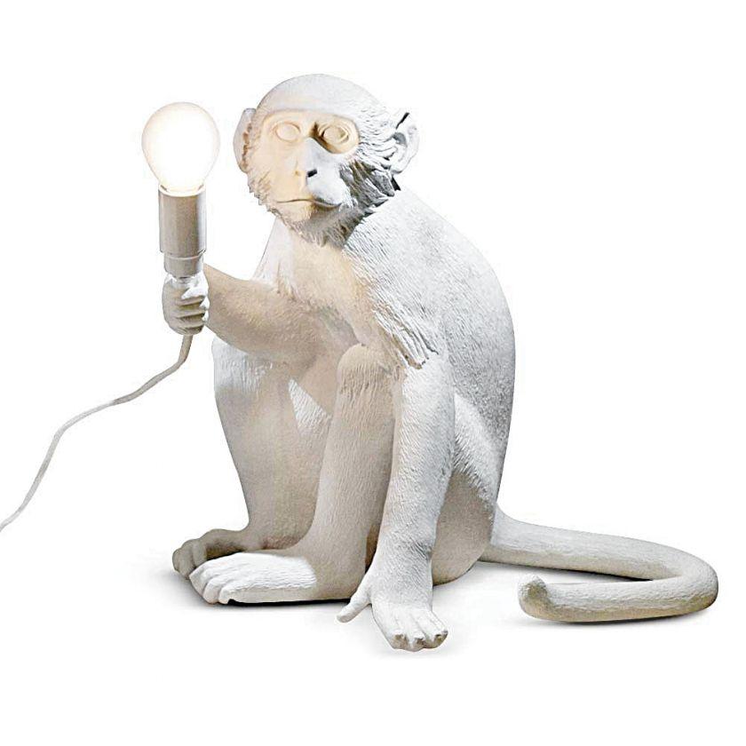 ozdobna lampa małpa