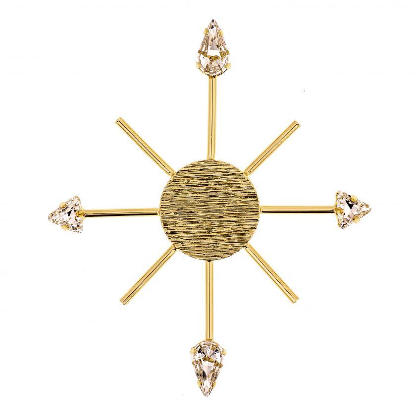 Rose of the Winds, pin Róża wiatrów ozdobiony kryształami Swarovskiego, 10 Decoart