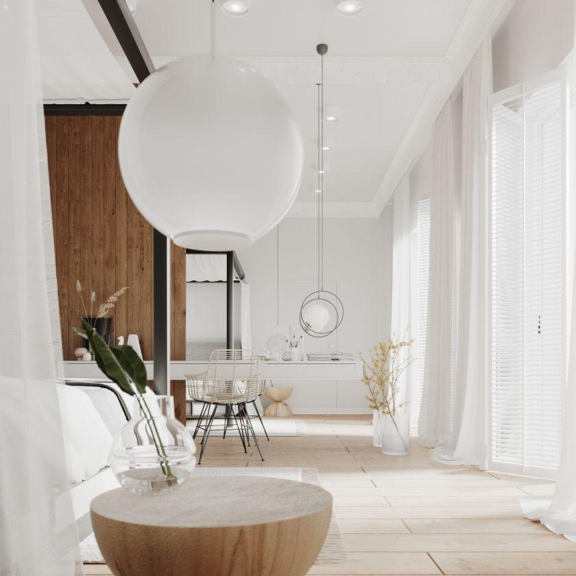 Klasyczne i naturalne wnętrza z nutką industrializmu w domu