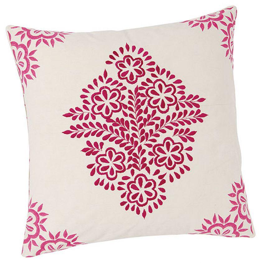 Dekoracyjne poduszki, kolorowy dom
