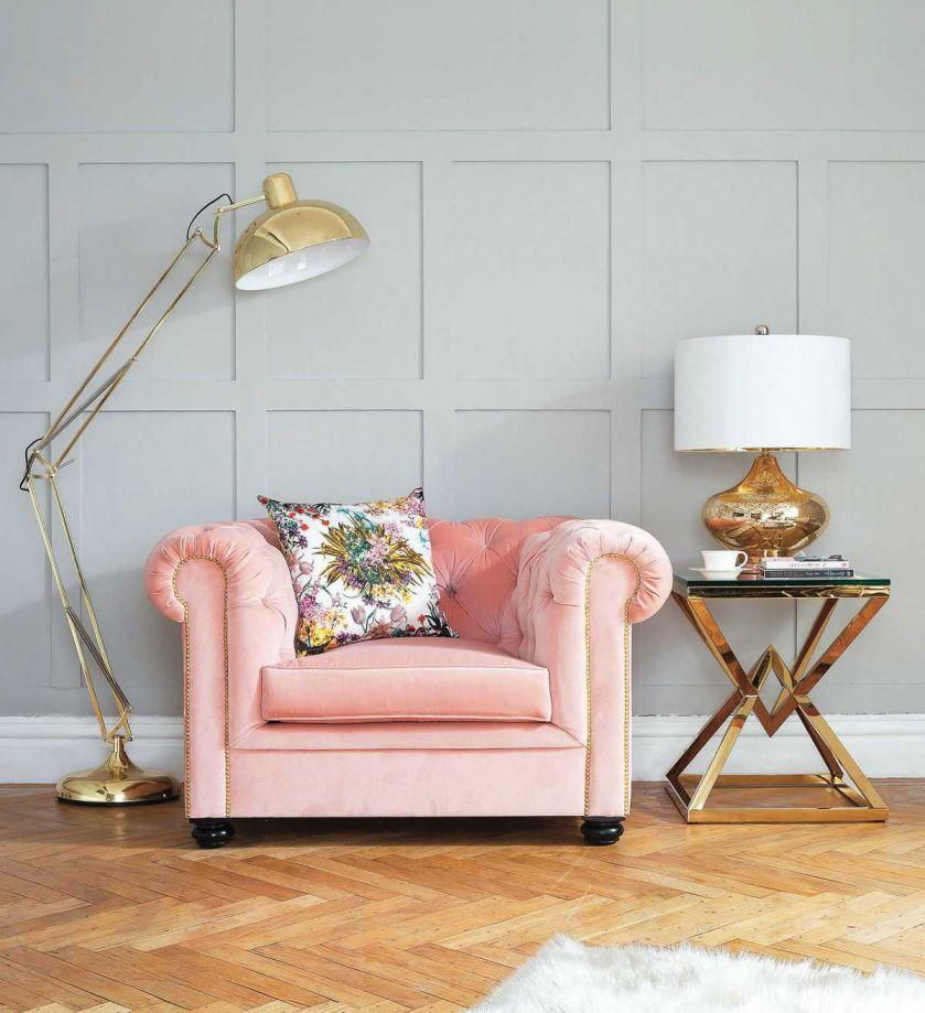 fotel vintage rose berkley